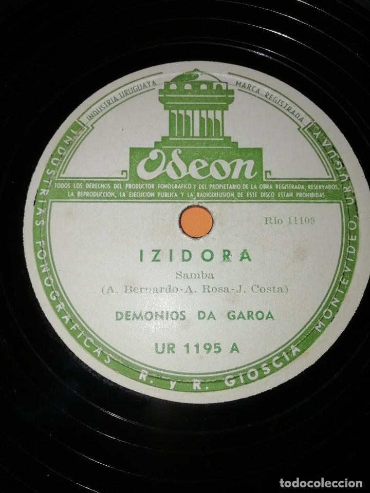 Discos de pizarra: DEMONIOS DA GAROA. SAMBA. DOS DISCOS PIZARRA. URUGUAY. ODEON 1957. RAROS. - Foto 2 - 168091088