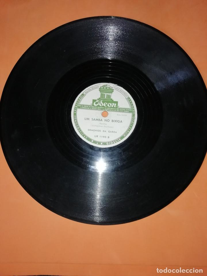 Discos de pizarra: DEMONIOS DA GAROA. SAMBA. DOS DISCOS PIZARRA. URUGUAY. ODEON 1957. RAROS. - Foto 3 - 168091088