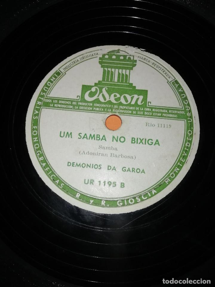 Discos de pizarra: DEMONIOS DA GAROA. SAMBA. DOS DISCOS PIZARRA. URUGUAY. ODEON 1957. RAROS. - Foto 4 - 168091088