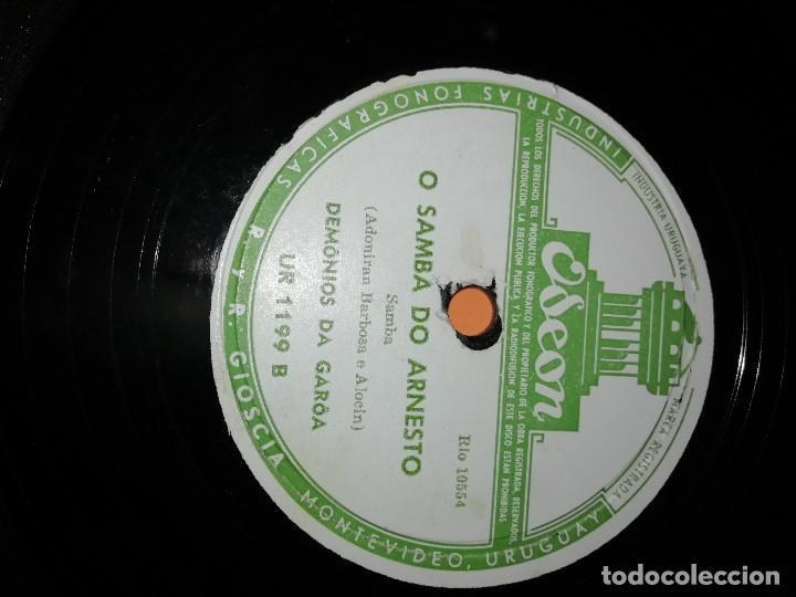 Discos de pizarra: DEMONIOS DA GAROA. SAMBA. DOS DISCOS PIZARRA. URUGUAY. ODEON 1957. RAROS. - Foto 8 - 168091088