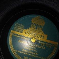Discos de pizarra: DISCO DE PIZARRA : KATIA MORLANDA CON JOSE PUERTAS Y SU QUINTETO DE HOT : ESTOY CONTENTA. Lote 168225480