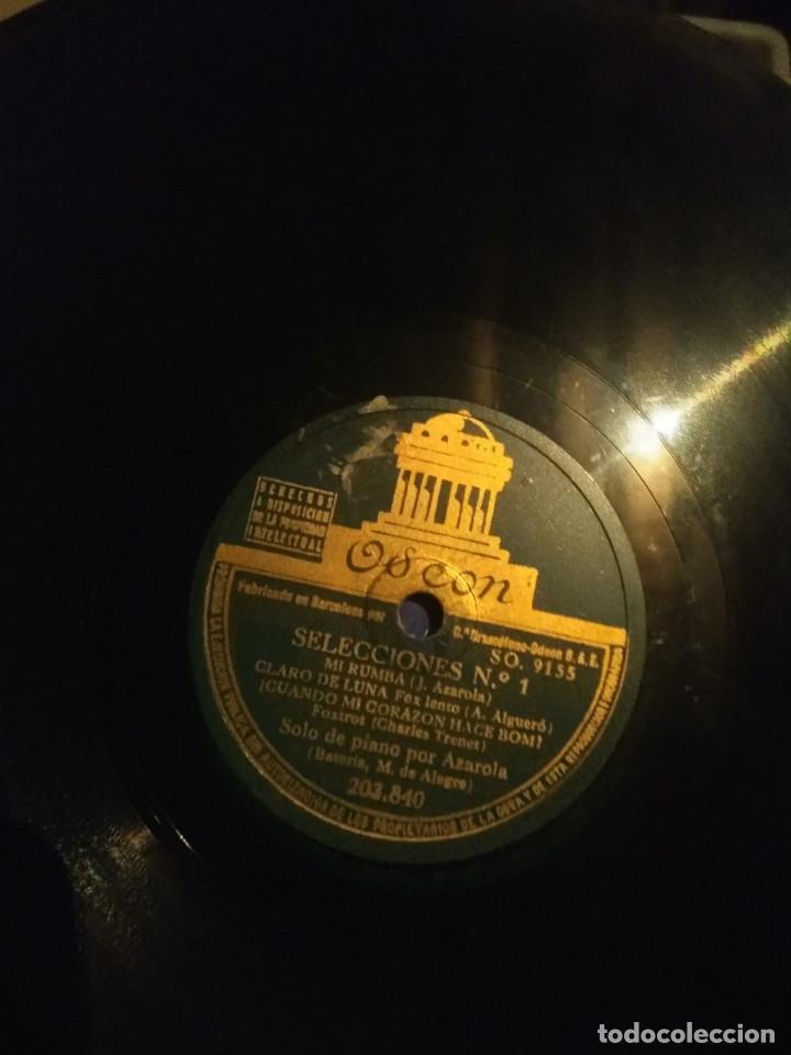 DISCO DE PIZARRA : SELECCIONES DUKE ELLINGTON, CHARLES TRENET (PIANO: AZAROLA / BATERIA : ALEGRE (Música - Discos - Pizarra - Jazz, Blues, R&B, Soul y Gospel)