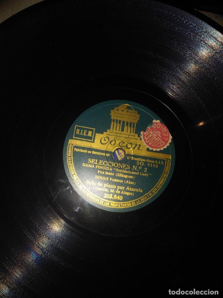 Discos de pizarra: DISCO DE PIZARRA : SELECCIONES DUKE ELLINGTON, CHARLES TRENET (PIANO: AZAROLA / BATERIA : ALEGRE - Foto 2 - 168226420