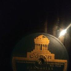 Discos de pizarra: DISCO DE PIZARRA : FANTASIAS ( AZAROLA AL PIANO, ALEGRE A LA BATERIA ). Lote 168227600