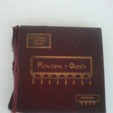 Discos de pizarra: LA MAQUINA PARLANTE. FONOTIPIA Y ODEON. GRAMOFONO. PATENTADO. 9 DISCOS. PASODOBLE, FOXTROT, VALSE.. Lote 168241980