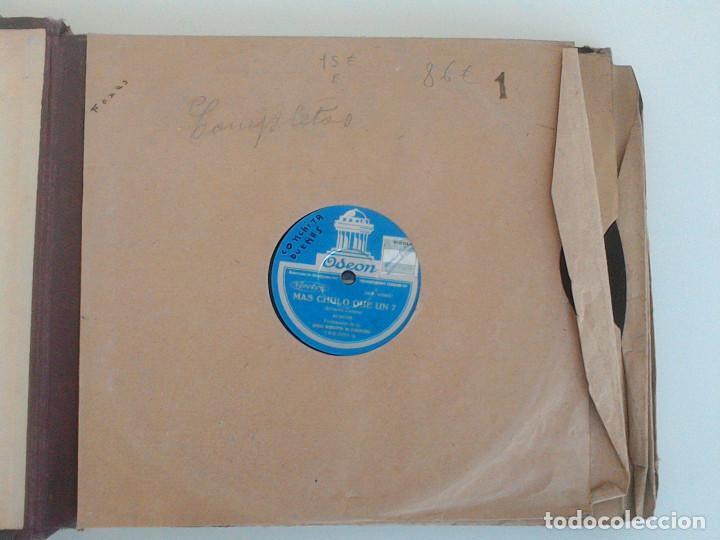 Discos de pizarra: ALBUM 10 DISCOS. COLUMBIA, ODEON, GRAMOFONO, PARLOPHON. FOXTROT, PASODOBLE, CHARLESTON, PASACALLE. - Foto 7 - 168244244