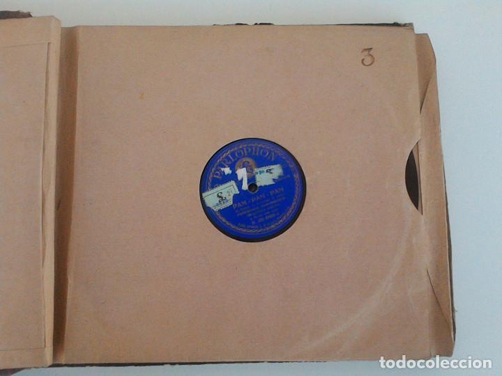 Discos de pizarra: ALBUM 10 DISCOS. COLUMBIA, ODEON, GRAMOFONO, PARLOPHON. FOXTROT, PASODOBLE, CHARLESTON, PASACALLE. - Foto 9 - 168244244