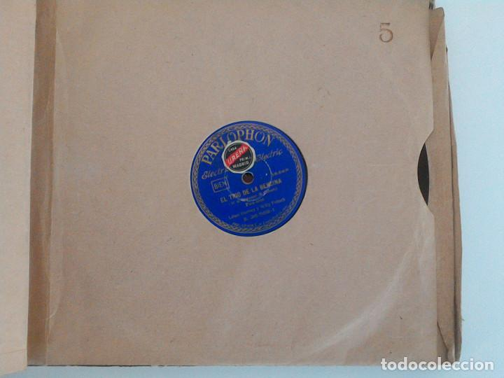 Discos de pizarra: ALBUM 10 DISCOS. COLUMBIA, ODEON, GRAMOFONO, PARLOPHON. FOXTROT, PASODOBLE, CHARLESTON, PASACALLE. - Foto 11 - 168244244