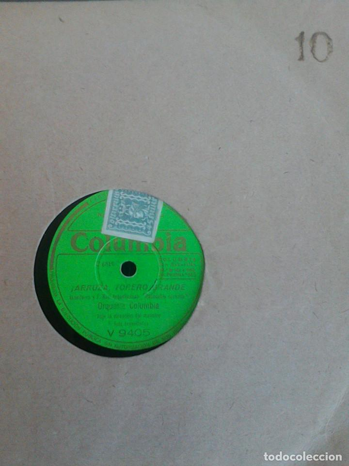 Discos de pizarra: ALBUM 10 DISCOS. COLUMBIA, ODEON, GRAMOFONO, PARLOPHON. FOXTROT, PASODOBLE, CHARLESTON, PASACALLE. - Foto 16 - 168244244