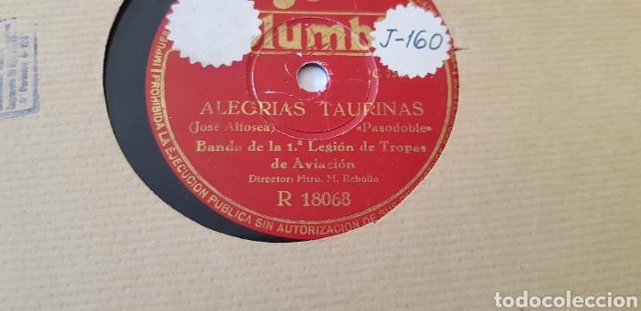 DISCOS 78 RPM BANDA DE LA PRINERA LEGIÓN DE AVIACIÓN. (Música - Discos - Pizarra - Flamenco, Canción española y Cuplé)