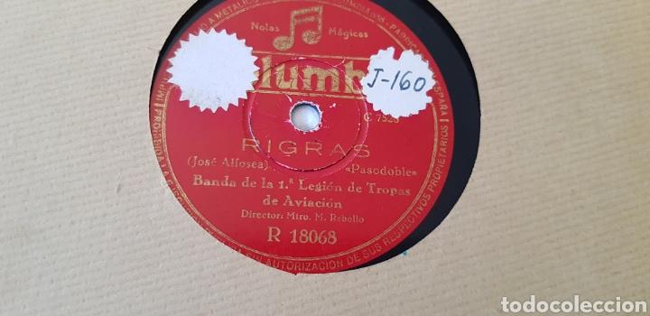 Discos de pizarra: DISCOS 78 RPM BANDA DE LA PRINERA LEGIÓN DE AVIACIÓN. - Foto 2 - 168340741