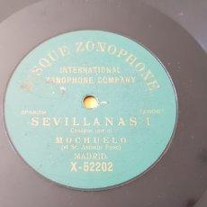 Discos de pizarra: SEVILLANAS 1 DISCO DE PIZARRA EL MOCHUELO. Lote 168341090