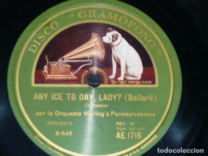 Discos de pizarra: DISCO 78 RPM - GRAMOFONO - ORQUESTA WARING´S PENNSYLVANIANS - IN A LITTLE GARDEN - JAZZ - PIZARRA - Foto 2 - 168416888