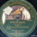 Discos de pizarra: DISCO 78 RPM - GRAMOFONO - ORQUESTA BENSON DE CHICAGO - WABASH BLUES - MA! - JAZZ - PIZARRA. Lote 168417820