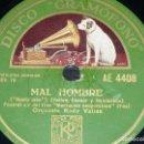 Discos de pizarra: DISCO 78 RPM - GRAMOFONO - ORQUESTA RUDY VALLEE - FILM - MANIQUIES NEOYORQUINOS - JAZZ - PIZARRA . Lote 168420248