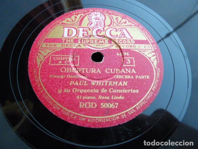 Discos de pizarra: PAUL WHITHEMAN -UN AMERICANO EN PARIS PART 1.-2-3 - 2 DISCOS DE PIZARRA 78 RPM - Foto 3 - 168526276