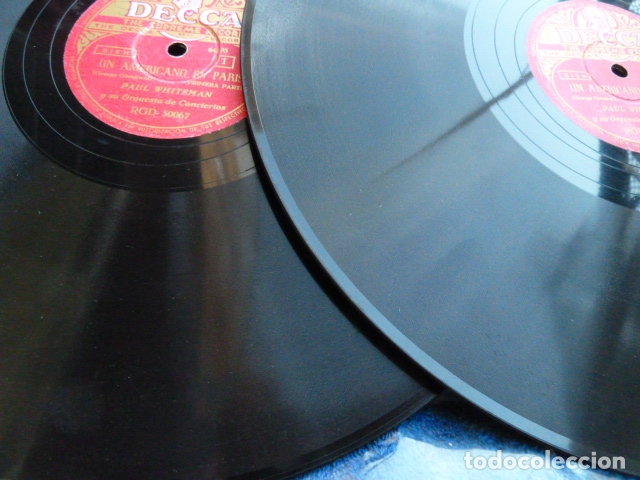 Discos de pizarra: PAUL WHITHEMAN -UN AMERICANO EN PARIS PART 1.-2-3 - 2 DISCOS DE PIZARRA 78 RPM - Foto 4 - 168526276