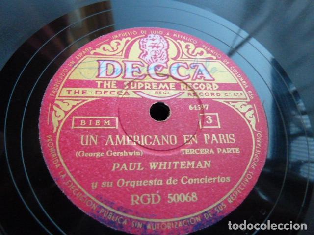 Discos de pizarra: PAUL WHITHEMAN -UN AMERICANO EN PARIS PART 1.-2-3 - 2 DISCOS DE PIZARRA 78 RPM - Foto 5 - 168526276
