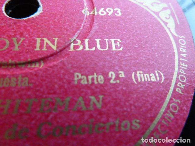 Discos de pizarra: PAUL WHITHEMAN -RHADSODY IN BLUE -PART 1.-2 DISCOS DE PIZARRA 78 RPM - Foto 9 - 168526356