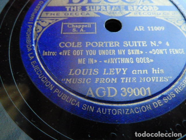 Discos de pizarra: LOUIS LEVI ANN HIS MUSIC FROM THE MOVIES COLE PORTER SUITE N.3-4 VER FOTOS - Foto 5 - 168526532