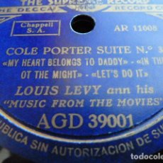 Discos de pizarra: LOUIS LEVI ANN HIS MUSIC FROM THE MOVIES COLE PORTER SUITE N.3-4 VER FOTOS. Lote 168526532
