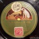 Discos de pizarra: DISCO 78 RPM - GRAMOFONO - BEBE DANIELS - FILM - RIO RITA - YOU´RE ALWAYS IN MY ARMS - PIZARRA. Lote 168601920