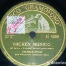 Discos de pizarra: DISCO 78 RPM - GRAMOFONO - CELESTE GRIJO - ORQUESTA - FILM - MICKEY - LOS TRES CERDITOS - PIZARRA. Lote 168605680