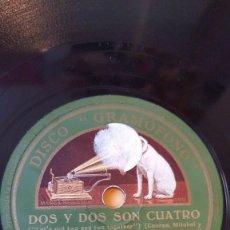 Discos de pizarra: DISCO 78 RPM - GRAMOFONO - HARRY SOSNIK - DON BESTOR - ORQUESTA - DOS Y DOS SON CUATRO - PIZARRA. Lote 168615908