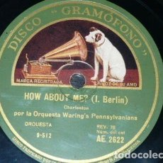 Discos de pizarra: DISCO 78 RPM - GRAMOFONO - ORQ WARING´S PENNSYLVANIANS - MAYBE THIS IS LOVE - CHARLESTON - PIZARRA. Lote 169271640