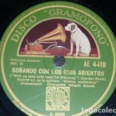 Discos de pizarra: DISCO 78 RPM - GRAMOFONO - ORQUESTA ISHAM JONES - FILM - MUSICA, MUCHACHOS - PARAMOUNT - PIZARRA. Lote 169286232