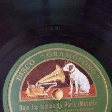 Discos de pizarra: DISCO 78 RPM - GRAMOFONO - ORQUESTA JACK HYLTON - BAJO LOS TECHOS DE PARIS - FILM - CANTA - PIZARRA. Lote 169288868