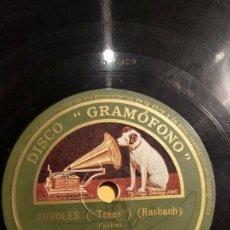 Discos de pizarra: DISCO 78 RPM - GRAMOFONO - ORQUESTA JACK HYLTON - ARBOLES - RASBACH - THE MATCH PARADE - PIZARRA. Lote 169323384
