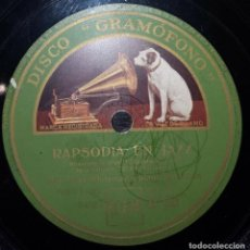 Discos de pizarra: DISCO 78 RPM - GRAMOFONO - ORQUESTA PAUL WHITEMAN - GERSHWIN - PIANO - RAPSODIA EN JAZZ - PIZARRA. Lote 169327224