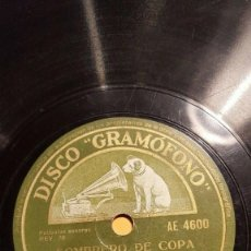 Discos de pizarra: DISCO 78 RPM - GRAMOFONO - ORQUESTA RAY NOBLE - FILM - SOMBRERO DE COPA - IRVING BERLIN - PIZARRA. Lote 169331344