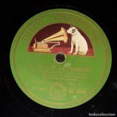 Discos de pizarra: DISCO 78 RPM - GRAMOFONO - ORQ RAY NOBLE - ORQ LEO REISMAN - FILM - VAMPIRESAS 1933 - JAZZ - PIZARRA. Lote 169335556