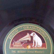 Discos de pizarra: DISCO 78 RPM - GRAMOFONO - ORQUESTA VICTOR & NAT SHILKRET - THE BEGGAR - OUT OF THE DAWN - PIZARRA. Lote 169414636