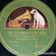 Discos de pizarra: DISCO 78 RPM - GRAMOFONO - ORQUESTA BEN POLLACK - FILM - RIO RITA - FOXTROT - JAZZ - PIZARRA. Lote 169434236