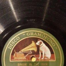 Discos de pizarra: DISCO 78 RPM - GRAMOFONO - ORQ GUS ARNHEIM - ORQ WARING´S PENNSYLVANIANS - FILM - FOXTROT - PIZARRA. Lote 169436176