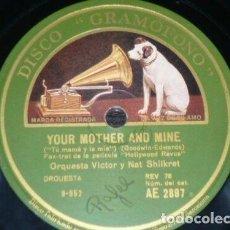 Discos de pizarra: DISCO 78 RPM - GRAMOFONO - ORQUESTA VICTOR & NAT SHILKRET - FILM - HOLLYWOOD REVUE - JAZZ - PIZARRA. Lote 169437688