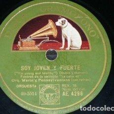 Discos de pizarra: DISCO 78 RPM - GRAMOFONO - ORQ WARING´S PENNSYLVANIANS - ORQ DON BESTOR - FILM - CALLE 42 - PIZARRA. Lote 169448928