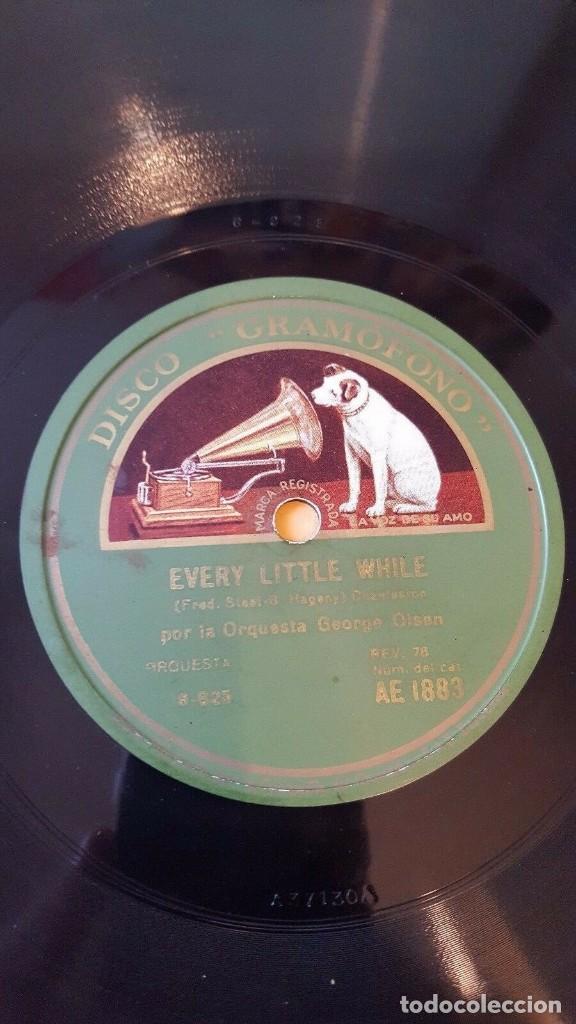 DISCO 78 RPM - GRAMOFONO - ORQUESTA GEORGE OLSEN - EVERY LITTLE WHILE - CHARLESTON - PIZARRA (Música - Discos - Pizarra - Jazz, Blues, R&B, Soul y Gospel)