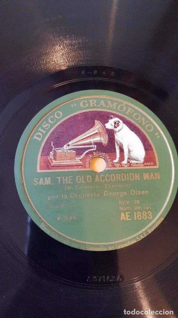 Discos de pizarra: DISCO 78 RPM - GRAMOFONO - ORQUESTA GEORGE OLSEN - EVERY LITTLE WHILE - CHARLESTON - PIZARRA - Foto 2 - 169633356