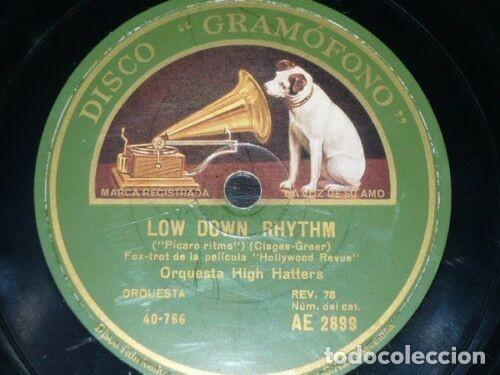 Discos de pizarra: DISCO 78 RPM - GRAMOFONO - ORQUESTA HIGH HATTERS - GOTTA FEELIN´ FOR YOU - FILM - FOXTROT - PIZARRA - Foto 2 - 169636272