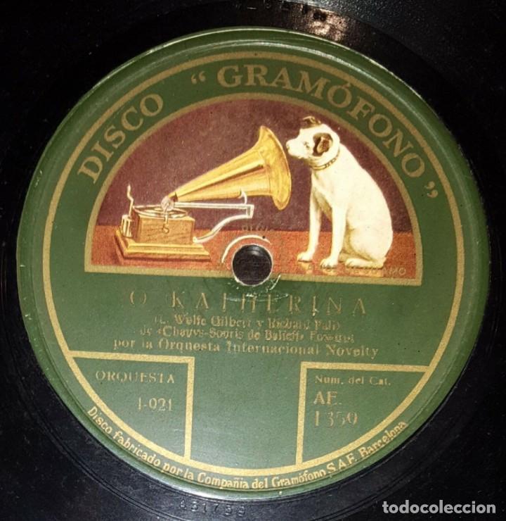 DISCO 78 RPM - GRAMOFONO - ORQUESTA INTERNACIONAL NOVELTY - O KATHERINA - TITINA - FOXTROT - PIZARRA (Música - Discos - Pizarra - Jazz, Blues, R&B, Soul y Gospel)