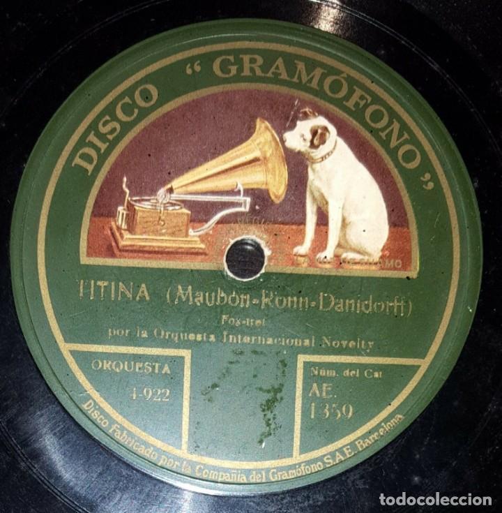 Discos de pizarra: DISCO 78 RPM - GRAMOFONO - ORQUESTA INTERNACIONAL NOVELTY - O KATHERINA - TITINA - FOXTROT - PIZARRA - Foto 2 - 169638416