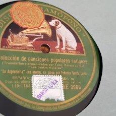 Discos de pizarra: LOTE DISCOS DE PIZARRA FEDERICO GARCIA LORCA. Lote 169732696