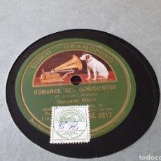 Discos de pizarra: DISCO 78 RPM GONZALEZ MARIN. Lote 169796269