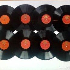 Discos de pizarra: LOTE DE 8 DISCOS EDITADOS EN LA URSS - 78 RPM - DIÁMETRO 25 CM - 10 PULGADAS - GRAMÓFONO - CCCP. Lote 170405864