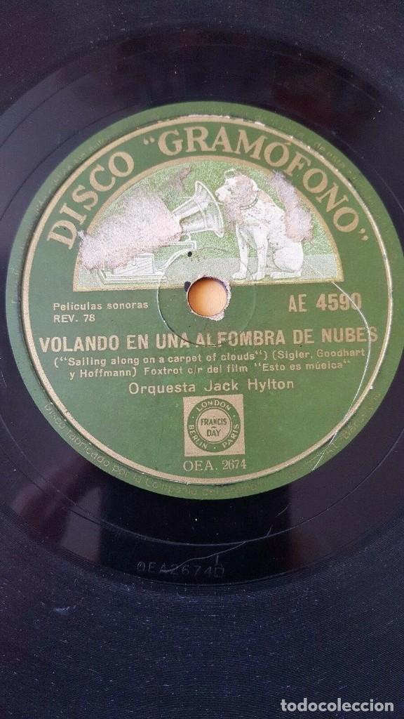 DISCO 78 RPM - GRAMOFONO - ORQUESTA JACK HYLTON - FILM - ESTO ES MUSICA - FOXTROT - JAZZ - PIZARRA (Música - Discos - Pizarra - Jazz, Blues, R&B, Soul y Gospel)