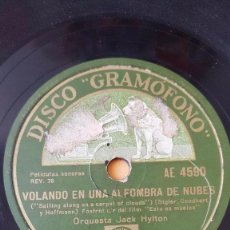Discos de pizarra: DISCO 78 RPM - GRAMOFONO - ORQUESTA JACK HYLTON - FILM - ESTO ES MUSICA - FOXTROT - JAZZ - PIZARRA. Lote 170485796